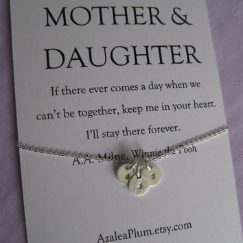 Mother Daughter Necklace. Mother Daughter Matching Necklace // Mother Daughter Jewelry // Simple Delicate Sterling Silver