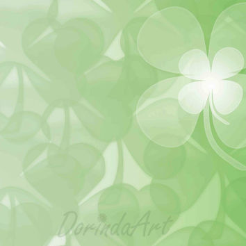 St Patrick's day background print Green clover Overlay Digital DIY clover printable Photo background Photo overlay 2 SIZES Instant Download