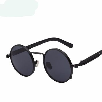 Steampunk Round Metal Retro Vintage Sunglasses