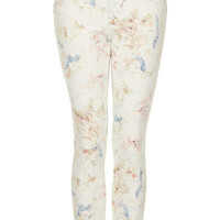 MOTO Cream Floral Skinny Jeans - Jeans - Clothing - Topshop USA