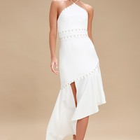 Talisman Ivory Halter Midi Dress