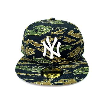 New Era 59Fifty NY New York Yankee Tiger Stripe Camo Fitted Cap