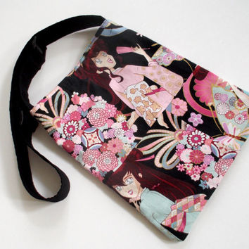 Miss Butterfly Crossbody Bag. Shoulder Bag. Women's Bag Alexander Henry Fabric. NEW ITEM
