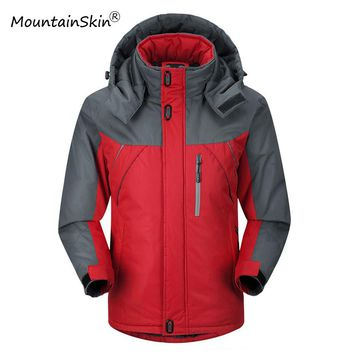 Winter Jacket Men's Parkas Thicken Fleece Hooded Coats Men's Windbreaker Casual Male Outerwear Waterproof Thermal Clothing LA068
