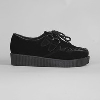 Women's Black Suede Creepers