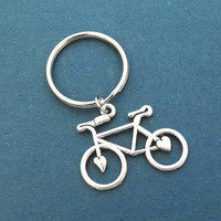 Bicycle, Silver, Key ring, Bike, Keychain, Birthday, Best friends, Sister, Christmas, New year, Gift, Jewelry, Accessory