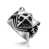 Shiny Gift New Arrival Cross Men Stylish Titanium Jewelry Ring [6526801667]