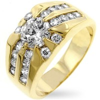 Cubic Zirconia Sunrise Ring Size 12