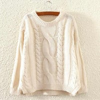 Cupshe Warm And Wonderful Twist Casual Sweater