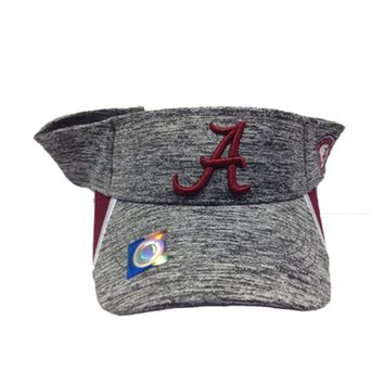 Alabama Crimson Tide Heather Grey Visor | BAMA Visor | Alabama Crimson Tide Visor