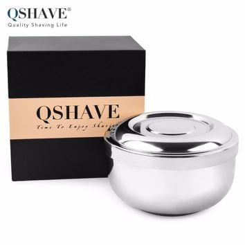 Q-SHAVE Stainless Steel Shaving Bowl