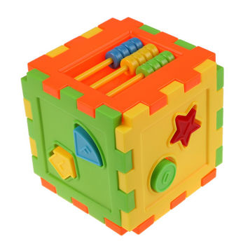 Baby Kid Matching Toy Bricks Matching Blocks Baby Intelligence Educational Sorting Box Toy