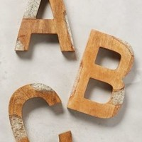 Ice Crackle Monogram by Anthropologie in Assorted Size: