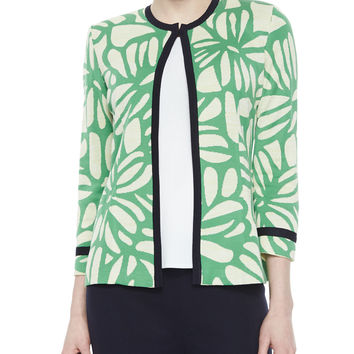 Flower Petal 3/4-Sleeve Jacket, Size: