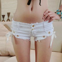 Denim Shorts for Women Brand Sexy Summer style Solid color White Black Female jeans shorts