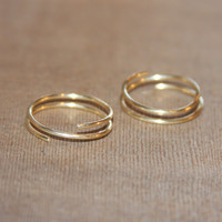 2 Gold Stacking Rings,Stackable Ring,Gold Rings,Open Gold Ring,Stacking Ring Set,Thin Gold Ring,Minimalist Ring,Dainty Gold Ring,Simple Ring