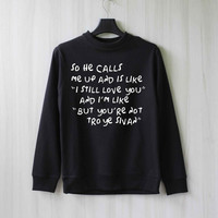 So He Calls Me Up - Troye Sivan Sweatshirt Sweater Shirt – Size XS S M L XL
