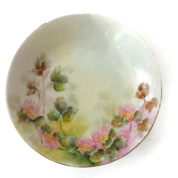 Rosenthal Decorative Porcelain Bowl Kronach Bavaria Pink Floral Signed