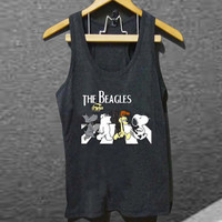 the beatles parody the beagles for Tank top Mens and Tank top Girls customized