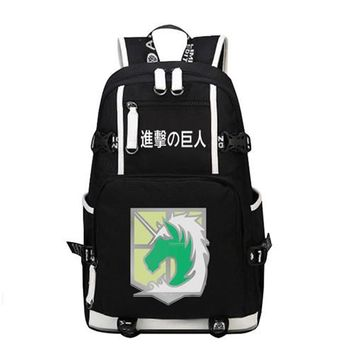 Japanese Anime Bag New  Attack on Titan School Backpack Cosplay Scout Legion Shoulder Laptop Bags Fashion Rucksack Travel Bag High Quality AT_59_4