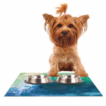"Carol Schiff ""Sea Music"" Teal Painting Dog Place Mat"