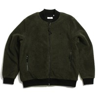 Sherpa Zip Up Jacket Olive