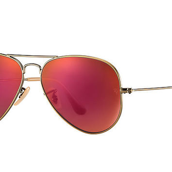 Ray-Ban AVIATOR FLASH LENSES Bronze-Copper Bronze-Copper,Brown, RB3025 | Ray-Ban® USA
