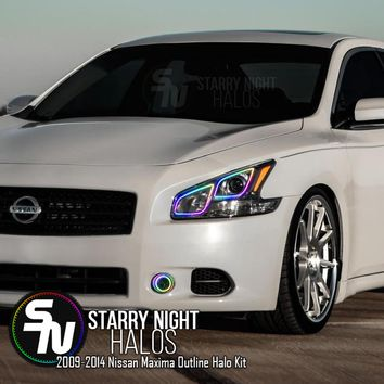 2009-2014 Nissan Maxima Outline RGB + Chasing Halo Kit (4 Halos)ˑ