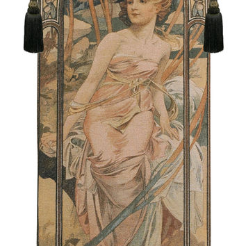 Mucha Matin Tapestry Wall Art Hanging