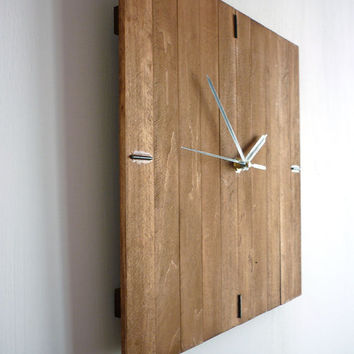 Romb II wood wall clock wooden silent from Paladim on Etsy