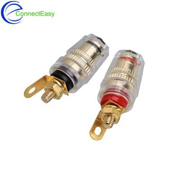 10PCS High Quality 4mm Thread Medium Amplifier Speaker Spade Terminal Binding Post Banana Plug Socket Connector 32MM