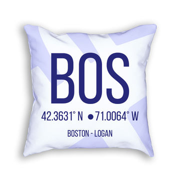 BOS Airport Pillow