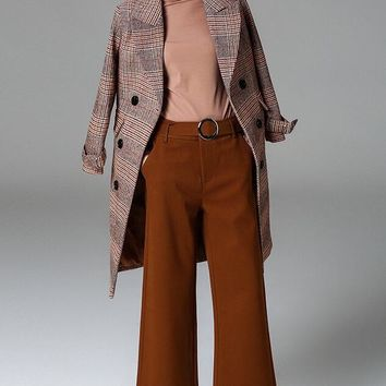 Wide Leg Pants W/ O Ring