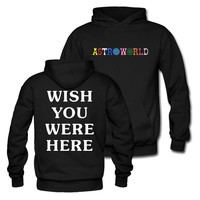 Astroworld WISH YOU WERE HERE Unisex Pullover Hoodie and Sweatshirt different size pls see the size chart
