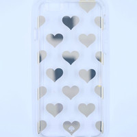 Kate Spade New York Hardshell Clear iPhone 6/6s Case - Gold Hearts