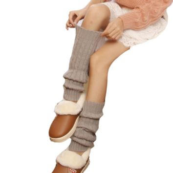 Warm and Cozy Knit Knee-High Boot Socks