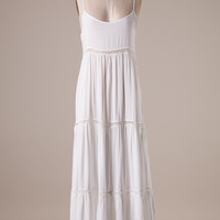 Simple and Stylish Maxi Dress - White