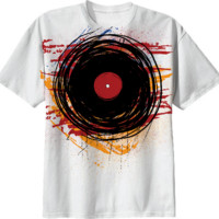 Vinyl Record Grunge with Paint and Scratches - Music DJ created by all-over-print-t-shirts | Print All Over Me