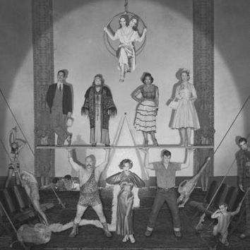 American Horror Story Freakshow poster Metal Sign Wall Art 8in x 12in Black and White