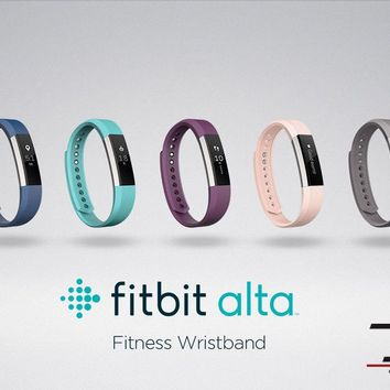 Fitbit Alta Fitness Activity + Sleep Tracker Black Small Large - Free Extra Band