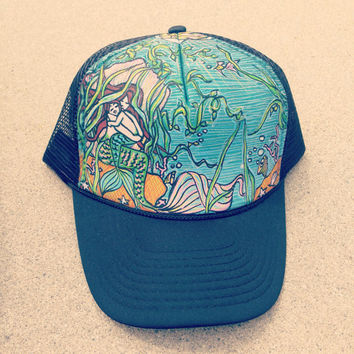 Mermaid & Son Trucker Hat by Roupoli Roupolimama