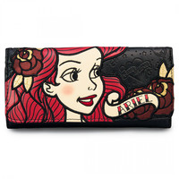 """Ariel Tattoo Flash"" Wallet by Loungefly (Black)"