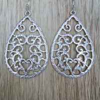 Late Morning Love Earrings - Silver
