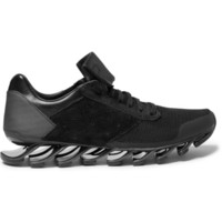 Rick Owens - Adidas Springblade Leather and Rubber Sneakers | MR PORTER