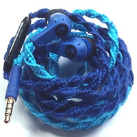 Blue Belle MyBuds Wrapped Headphones Tangle Free Earbuds Your Choice of Headphones