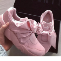 """ PUMA"" Rihanna Bows Green/Pink  Running Shoes Shoes"