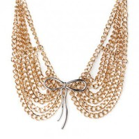 Metal Peter Pan Collar Necklace in Gold - ShopSosie.com