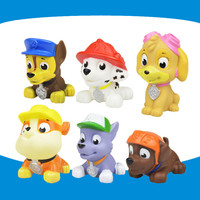 AUTOPS 6pcs/Sets Cute Bath Toy Can Ring Pupppy Patrol Dog Patrulla Canina Toys Soft Patrol Anime Toys Kid Toy For Child Gift