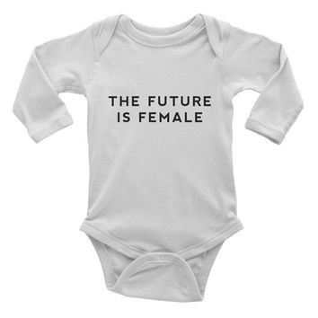 The Future is Female Baby Onesuit - Infant one-piece - Feminism Shirt - Feminist Shirt - Women's Rights - Women's Movement-Girl Power-GRL PWR