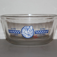 Pillsbury Dough Boy Anchor Hocking 1.5 Quart Glass Mixing Bowl